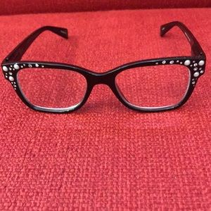 Cute bedazzled Betsey Johnson readers
